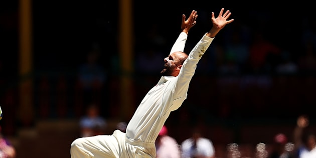 SYDNEY, AUSTRALIA - JANUARY 07:  Nathan Lyon of Australia appeals for a wicket of during day five of the Third Test match between Australia and Pakistan at Sydney Cricket Ground on January 7, 2017 in Sydney, Australia.  (Photo by Ryan Pierse - CA/Cricket Australia/Getty Images)