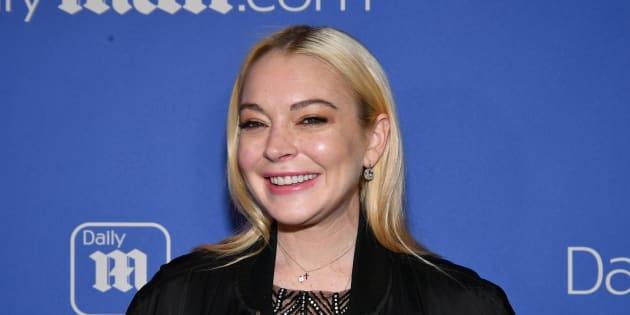 Lindsay Lohan en décembre 2017 à New York.