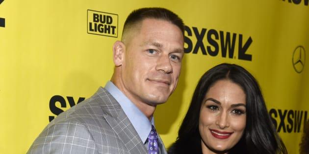 John Cena and Nikki Bella.