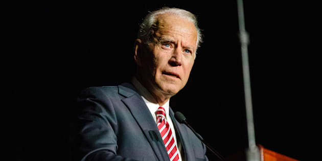 Former U.S. Vice President Joe Biden speaks during the first State Democratic dinner in Dover, Del., on March 16, 2019.