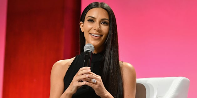 LOS ANGELES, CA - AUGUST 05:  (EDITORS NOTE: Image has been converted to black and white) Kim Kardashian West speaks during the #BlogHer16 Experts Among Us conference at JW Marriott Los Angeles at JW Marriott Los Angeles at L.A. LIVE on August 5, 2016 in Los Angeles, California.  (Photo by Matt Winkelmeyer/Getty Images)