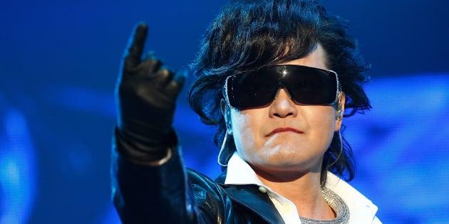 X JAPANのToshl(韓国・ソウル=2011年10月28日撮影)