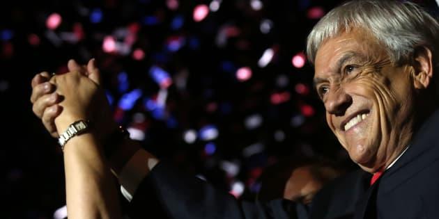 """""""Viva a diferença e viva o pluralismo de ideias"""", disse Piñera em seu discurso de vitória."""