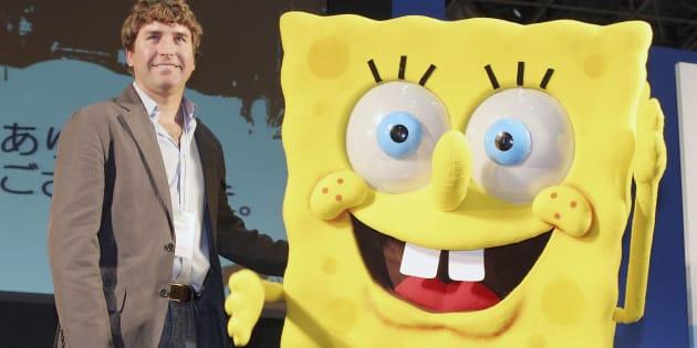 来日した時のスティーブン・ヒレンバーグさん(左)