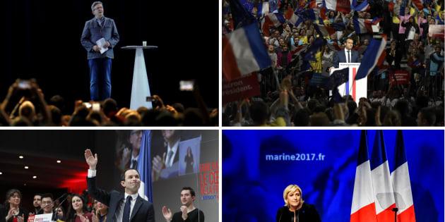 Quatre des principaux candidats à la présidentielle étaient en meeting ce week-end.