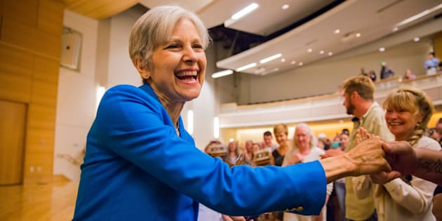 PORTLAND, ME - SEPTEMBER 14: Green Party Presidential candidate Jill Stein speaks at University of Southern Maine on Wednesday. (Photo by Ben McCanna/Portland Press Herald via Getty Images)