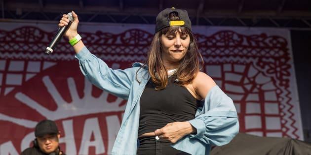 Mala Rodríguez en un concierto en Texas, Estados Unidos, en mayo de 2015.