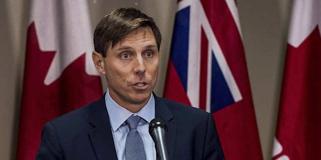 Ontario Progressive Conservative Leader Patrick Brown speaks at a press conference at Queen's Park in Toronto on Jan. 24, 2018.