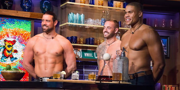 WATCH WHAT HAPPENS LIVE WITH ANDY COHEN -- Pictured: Thunder From Down Under dance