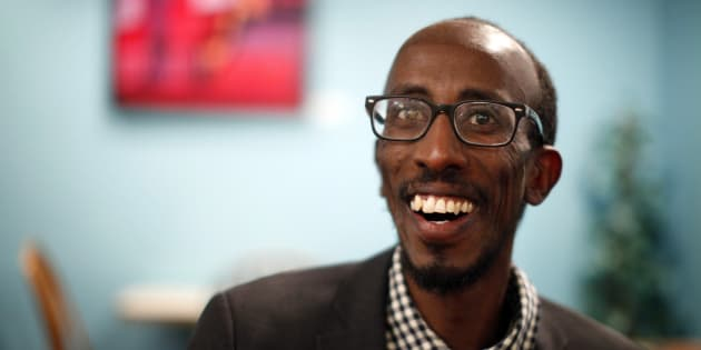 Sharmarke Dubow, a former Somali refugee who was recently elected to Victoria city council, is photographed in Victoria.