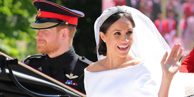 The Duke and Duchess of Sussex on their wedding day, on May 19.