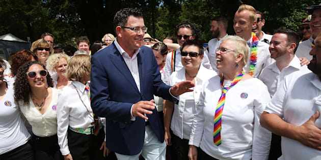 Daniel Andrews at Midsumma Festival, a celebration of the LGBTI community, in Victoria in January