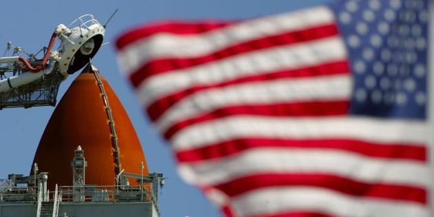 La navette spatiale américaine Discovery prête au lancement, en 2006