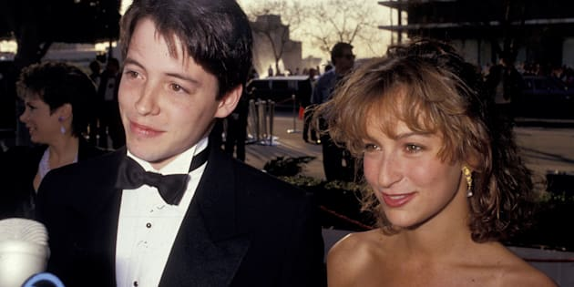 Matthew Broderick and Jennifer Grey during 59th Annual Academy Awards at Shrine Auditorium in Los Angeles, California, United States. (Photo by Ron Galella, Ltd./WireImage)