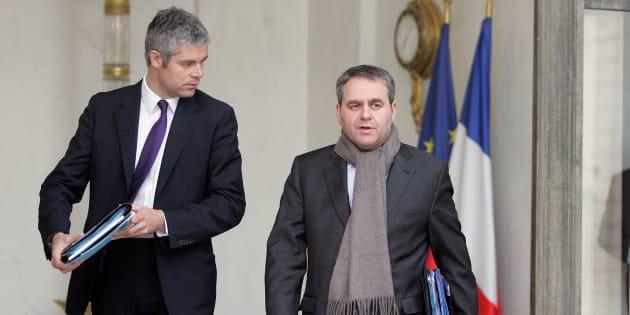 Laurent Wauquiez et Xavier Bertrand en 2012, quand ils étaient membres ensemble du gouvernement de François Fillon.