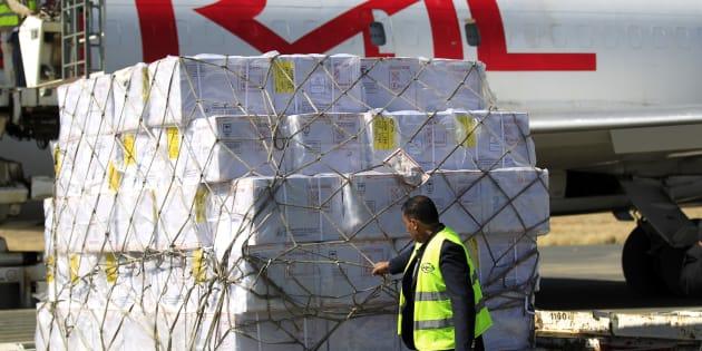 A desperately needed shipment of vaccines have landed in rebel-held Yemeni capital Sanaa.