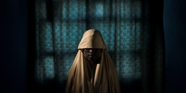 Retrato de Aisha, una joven nigeriana que trató de utilizar Boko Haram como terrorista suicida, finalista del premio World Press Photo de este año.