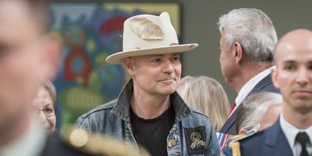 Gord Downie arrives at the ceremony to Present Honours in Recognition of Outstanding Indigenous Leadership at Rideau Hall on June 19, 2017 in Ottawa.