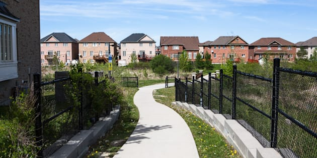 New houses stand in Brampton, Ont. on May 20, 2017.