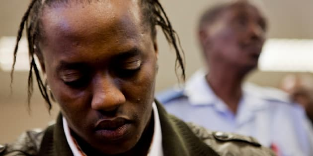 "Molemo ""Jub Jub"" Maarohanye at the Protea Magistrate's Court on December 5 2012 in Johannesburg, South Africa. Maarohanye and Themba Tshabalala were initially sentenced to 25 years each for murder and attempted murder, after they crashed into and killed four high school pupils and seriously injured three others on 8 March 2010. The sentence was later reduced to 10 years."