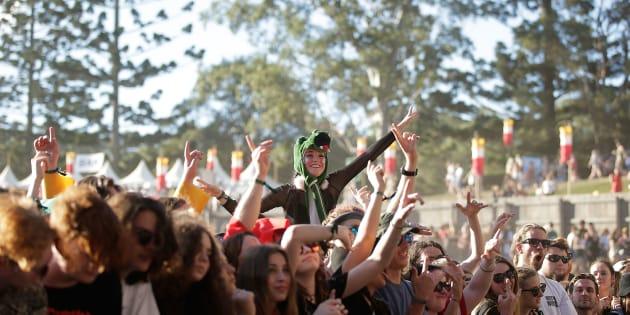 Festival-goers enjoy Splendour in the Grass 2016 in Byron Bay.