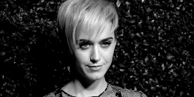 SANTA MONICA, CA - APRIL 06:  (EDITORS NOTE: This image was converted to black and white.)  Singer Katy Perry attends the celebration of Chanel's Gabrielle Bag hosted by Caroline De Maigret and Pharrell Williams at Giorgio Baldi on April 6, 2017 in Santa Monica, California.  (Photo by Frazer Harrison/Getty Images)