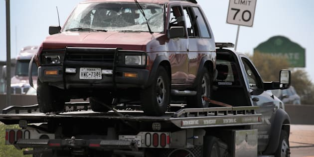 容疑者が乗っていた車