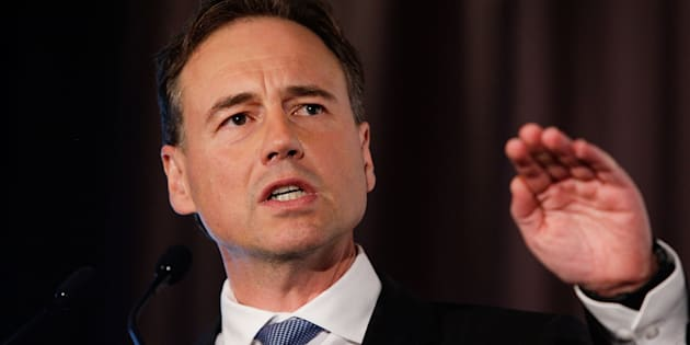 Health Minister Greg Hunt.  (Photo by Lisa Maree Williams/Getty Images)