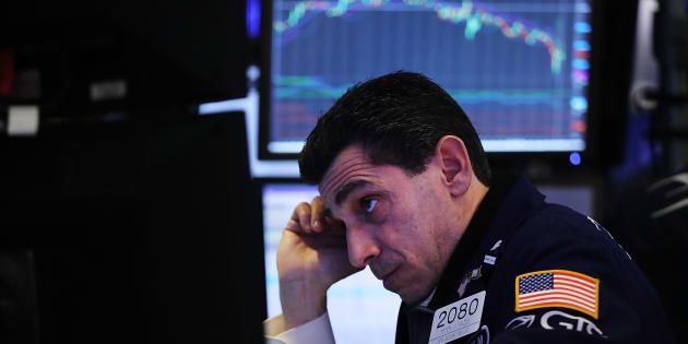Un trader en el parqué de la Bolsa de Nueva York.