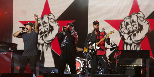 Photo d'archives de Prophets of Rage qui sera en prestation au Rockfest.