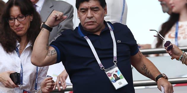 Diego Armando Maradona y sus polémicas apariciones en Rusia 2018 (Foto: Yegor Aleyev\TASS via Getty Images)