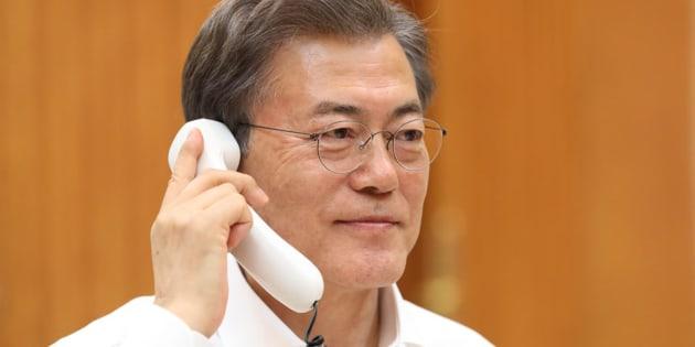 Le président sud-coréen Moon Jae-In