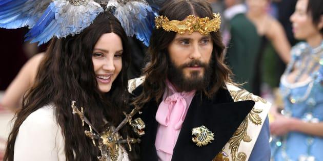 Lana del Rey y Jared leto en la pasada MET Gala en Nueva York.