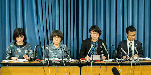 医学部入試における女性差別対策弁護団の会見=文部科学省