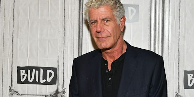 Author/TV personality Anthony Bourdain visits the Build Studio on Oct. 30, 2017 in New York City.