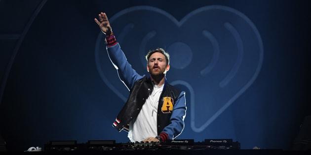 David Guetta, durante una actuación en el iHeartRadio Music Festival el 22 de septiembre de 2017 en Las Vegas.