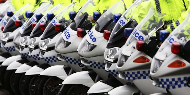Police officers from NSW and Victoria are making their way to Canberra on motorbikes.