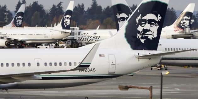 アラスカ航空の旅客機