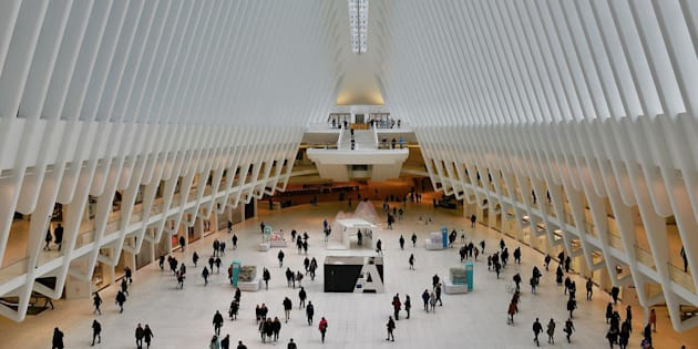 NEW YORK - JANUARY 29:  The World Trade Center Transportation Hub, known as Oculus and realized by Spanish architect Santiago Calatrava. (Photo by Andrea Franceschini by Corbis News via Getty Images).