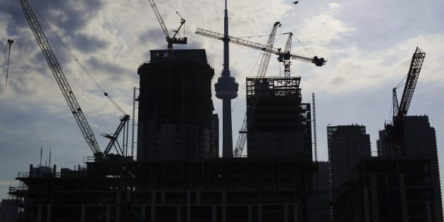 Condominiums are seen under construction in Toronto, July 10, 2011.