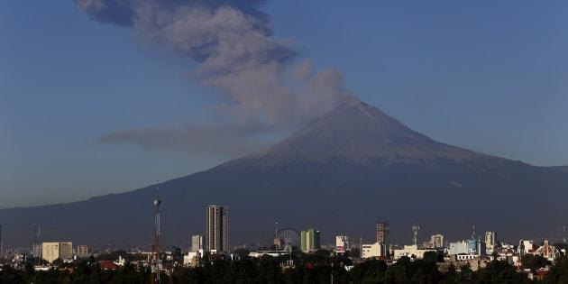 Imagen de archivo de la actividad volcánica del 8 de noviembre de 2017.
