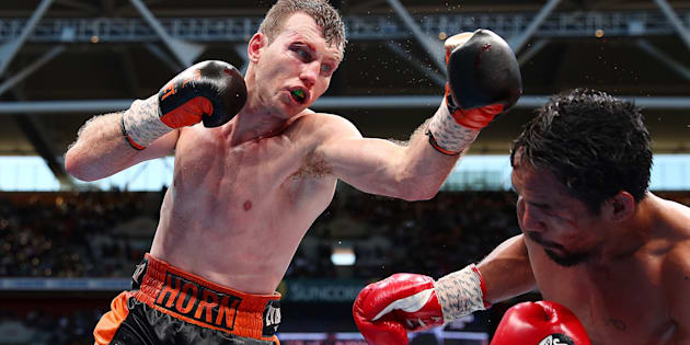 Aussie Jeff Horn has defeated Manny Pacquiao in Brisbane.
