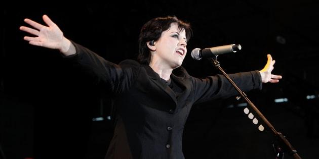 Dolores O'Riordan, durante un concierto en Melbourne (Australia) el 17 de marzo de 2012.
