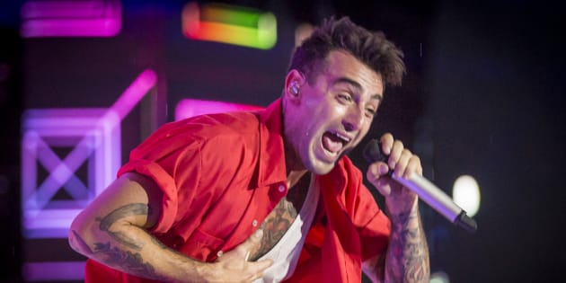 Jacob Hoggard of Hedley performs at We Day Canada at Parliament Hill on July 2, 2017 in Ottawa, Canada.