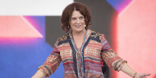 Margaret Trudeau delivers remarks at We Day Canada at Parliament Hill on July 2, 2017 in Ottawa.  (Mark Horton/Getty Images)