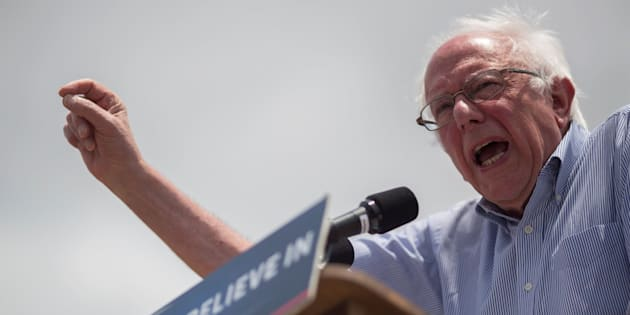 EAST LOS ANGELES, CA - MAY 23: Democratic presidential candidate Sen. Bernie Sanders speaks at a campaign rally at Lincoln Park on May 23, 2016 in East Los Angeles, California. Candidates are campaigning for the June 7 California presidential primary election. (Photo by David McNew/Getty Images)