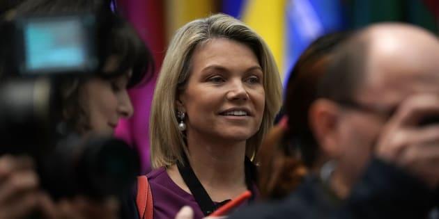 Heather Nauert, la porte-parole du département d'État américain.