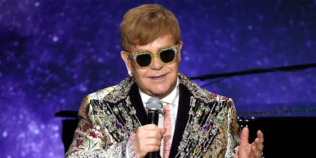 Elton John announces 'Farewell Yellow Brick Road' tour dates at Gotham Hall on Jan. 24, in New York City.