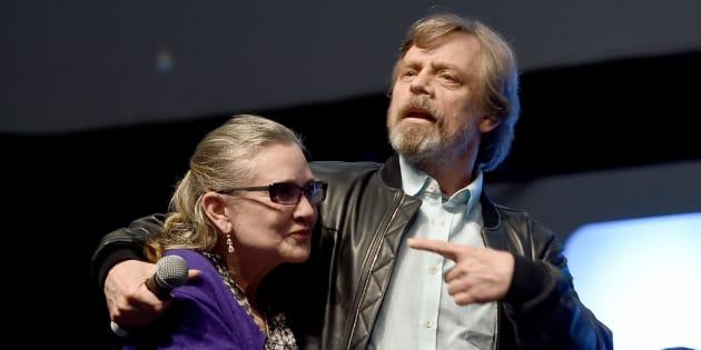 Carrie Fisher et Mark Hamill ont partagé l'affiche de cinq des huit premiers épisodes de «Star Wars».