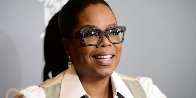 Oprah Winfrey arrives at the taping of 'Queen Sugar After-Show' on November 7, 2017 in California.